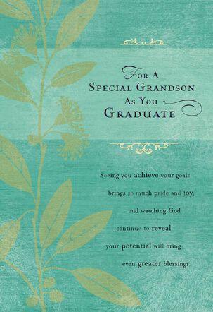 God's Plan For You Religious Graduation Card for a Grandson