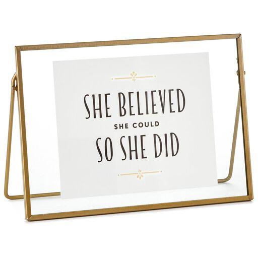 141f5685193 She Believed Floating Framed Quote