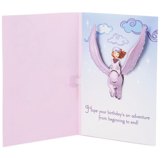 Sofia the First and Minimus Musical Birthday Card for – How to End a Birthday Card