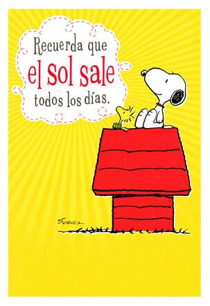 Peanuts® Snoopy Spanish-Language Encouragement Card