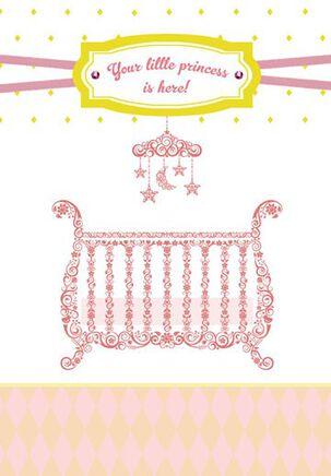 Little Princess Baby Girl Congratulations Card