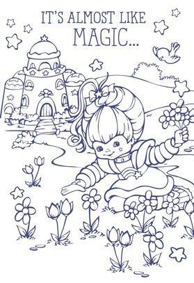 Rainbow Brite Flowers Coloring Card - Greeting Cards - Hallmark