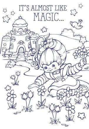 Rainbow Brite Flowers Coloring Card