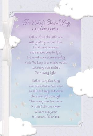 Sky and Clouds Christening Card