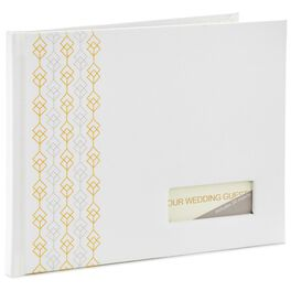Gold and Silver Embroidery Guest Book, , large