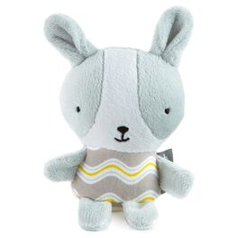 Mini Gray Bunny Plush Rattle, , large