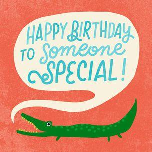 Alligator Word Bubble Birthday Card