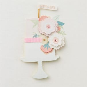 Happy Day Tiered Cake Birthday Card