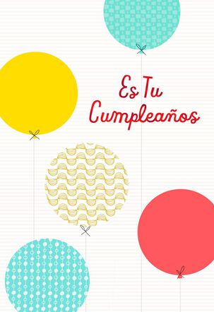 Birthday Balloons Spanish-Language Birthday Card