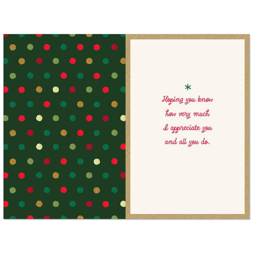 Counting Blessings Appreciation Christmas Card