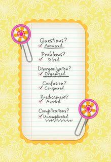 Appreciation Checklist Administrative Professionals Day Card,