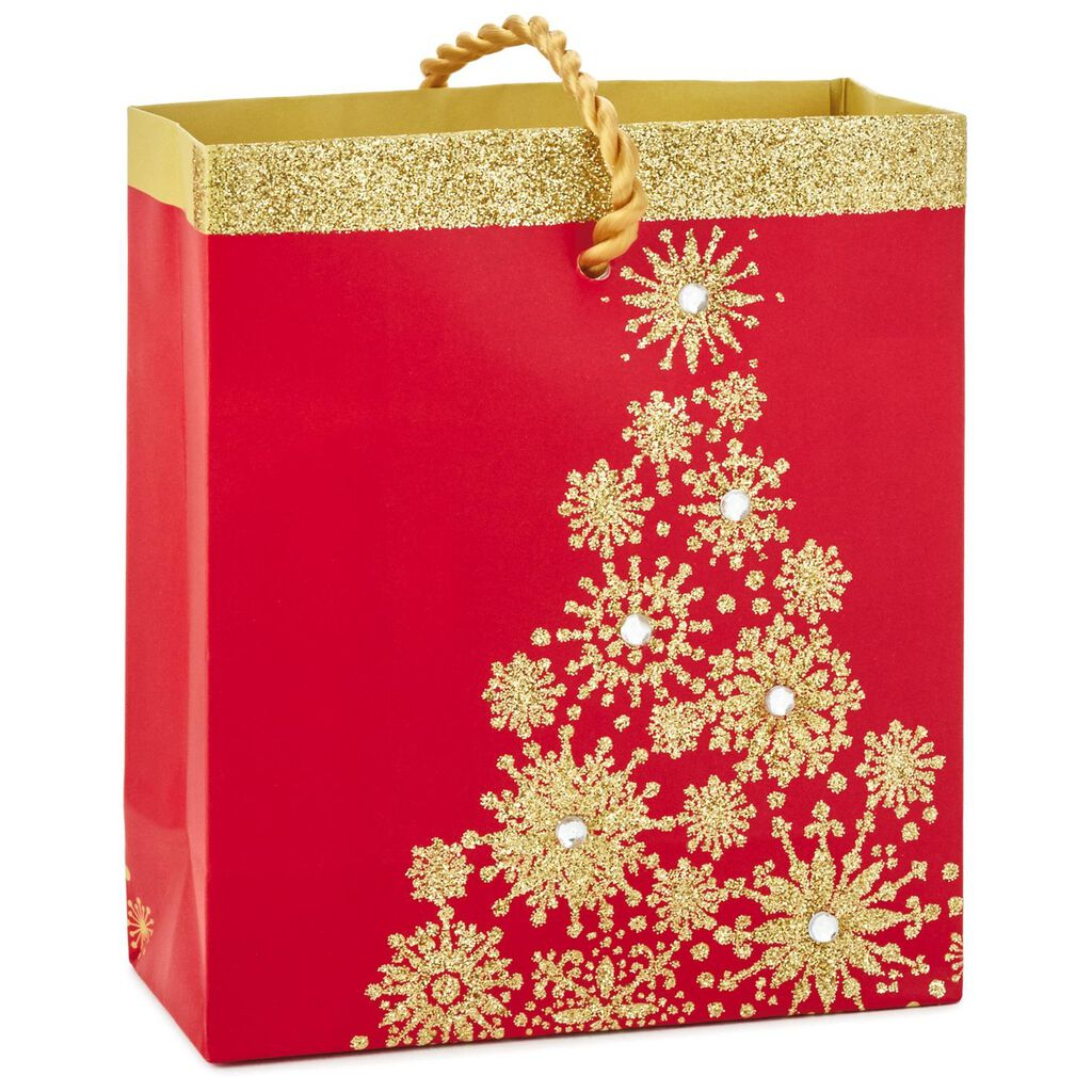 Sparkly Christmas Tree Gift Card Holder Mini Bag, 4.5\