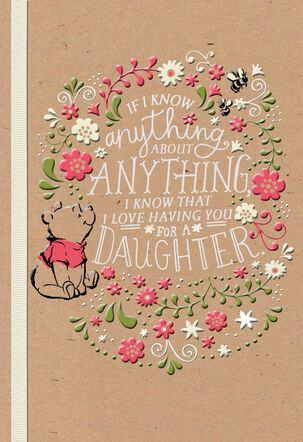 Winnie the Pooh Celebrating You, Daughter Birthday Card