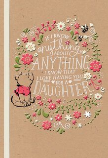 Winnie the Pooh Celebrating You, Daughter Birthday Card,