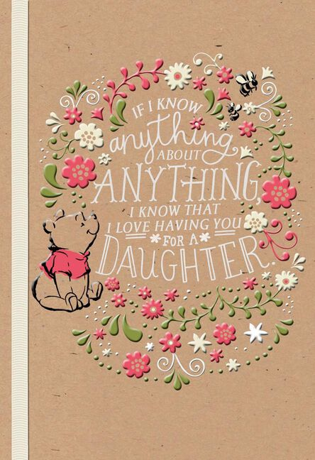 Winnie the pooh celebrating you daughter birthday card greeting winnie the pooh celebrating you daughter birthday card m4hsunfo