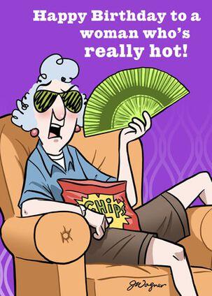 Hot Flash Funny Birthday Card