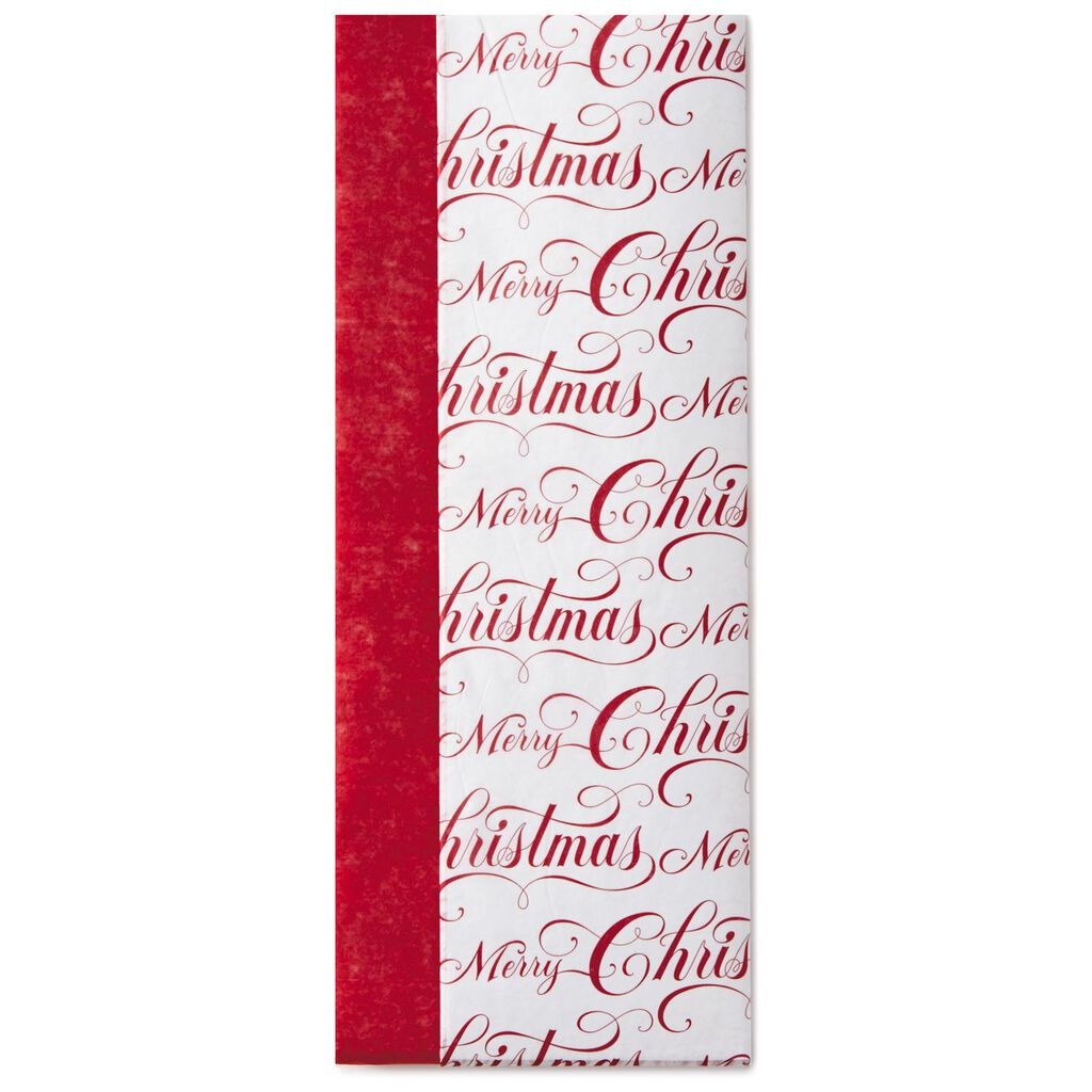 Dark Red and Merry Christmas 2-Pack Tissue Paper, 6 Sheets - Tissue ...