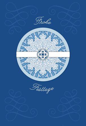 Happy Holidays German-Language Christmas Card