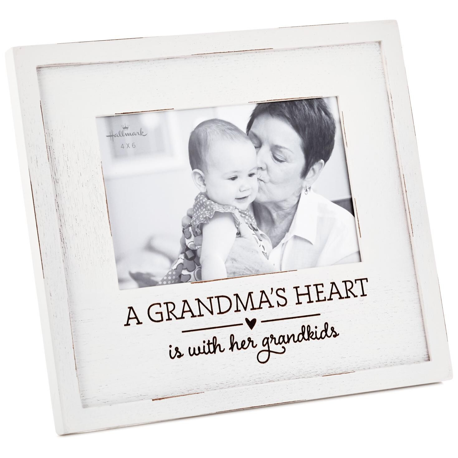 A Grandma\'s Heart Wood Picture Frame, 4x6 - Picture Frames - Hallmark