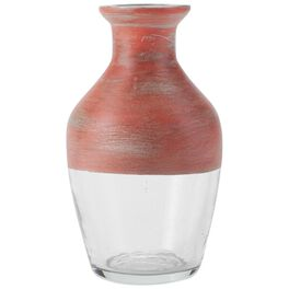 "Medium Red Painted Glass Vase, 5.5"", , large"