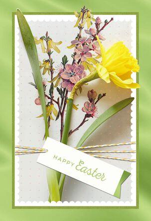Springtime Daffodil Easter Card