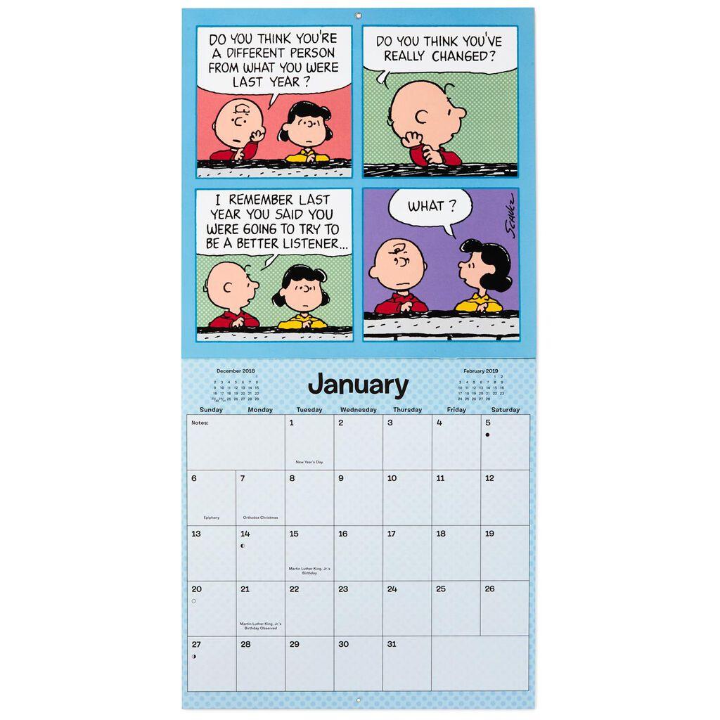 Peanuts 2019 Wall Calendar 12 Month Calendars Hallmark