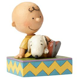 Jim Shore® Peanuts® Snuggling Snoopy and Charlie Brown Figurine, , large