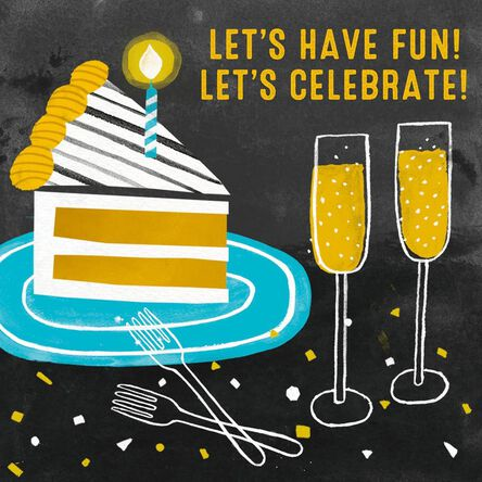 Fun Celebrate Get It On Musical Birthday Card Greeting Cards