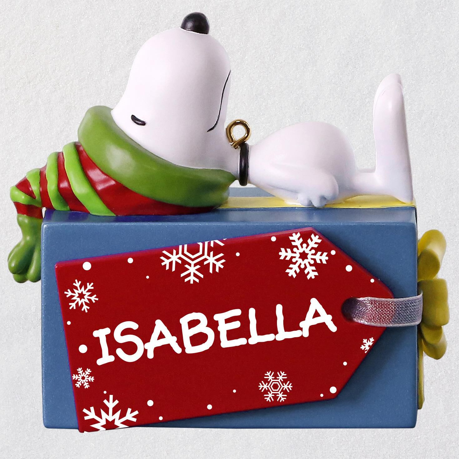 peanuts snoopy christmas present personalized ornament personalized ornaments hallmark - Snoopy Christmas