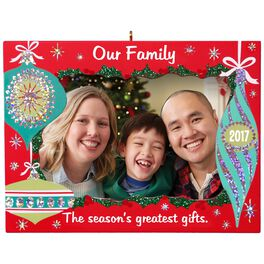 Our Family Greatest Gifts Picture Frame Ornament, , large