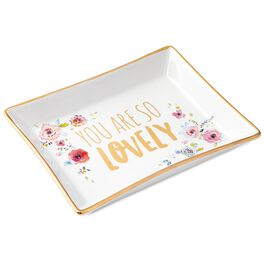 Haute Girls™ You Are So Lovely Floral Ceramic Trinket Tray, , large
