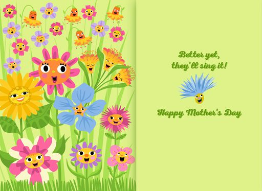 Singing Flowers Musical Mother's Day Card,