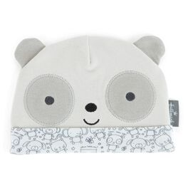 Gray Panda Bear Baby Hat, , large