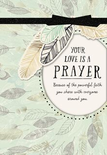 You Inspire Us All Religious Mother's Day Card,