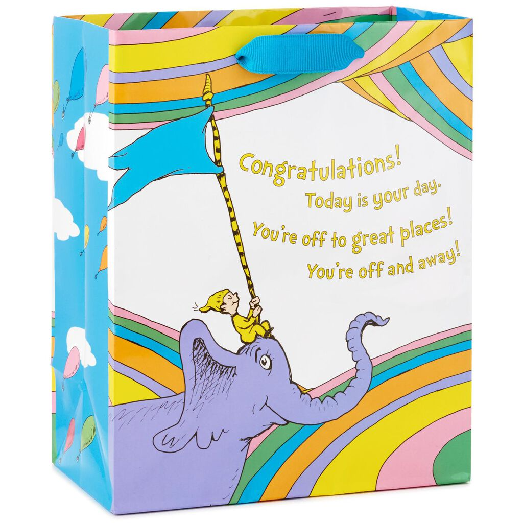 Dr Seuss Oh The Places Youll Go Medium Gift Bag 95