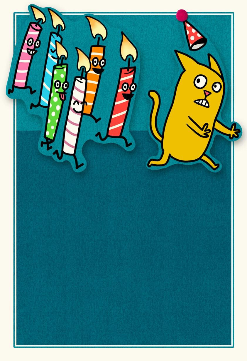 Chasing Candles Funny Birthday Card Greeting Cards