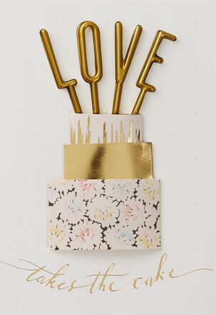 Love Takes the Cake Wedding Card