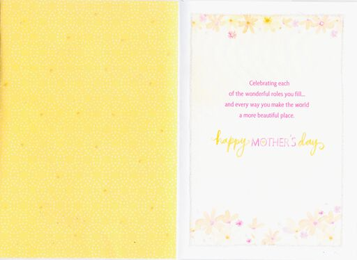 Caring Mother-in-Law & Loving Grandma Mother's Day Card,