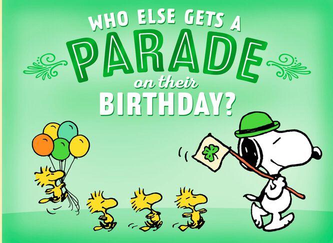 Peanuts snoopy st patricks day birthday card greeting cards peanuts snoopy st patricks day birthday card m4hsunfo