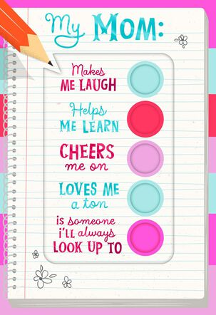 Checklist for Mom Mother's Day Card