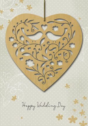 Joy, Laughter and Love Wedding Card