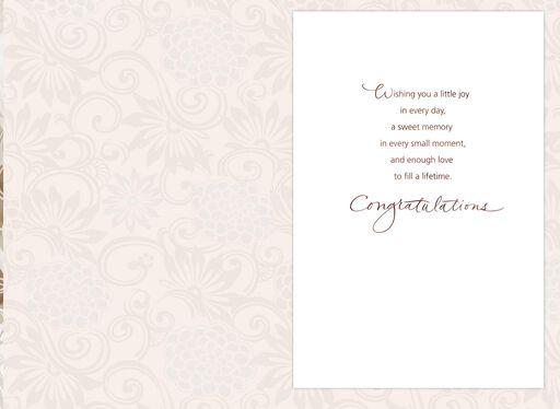 Ribbon and Pearls Wedding Card,