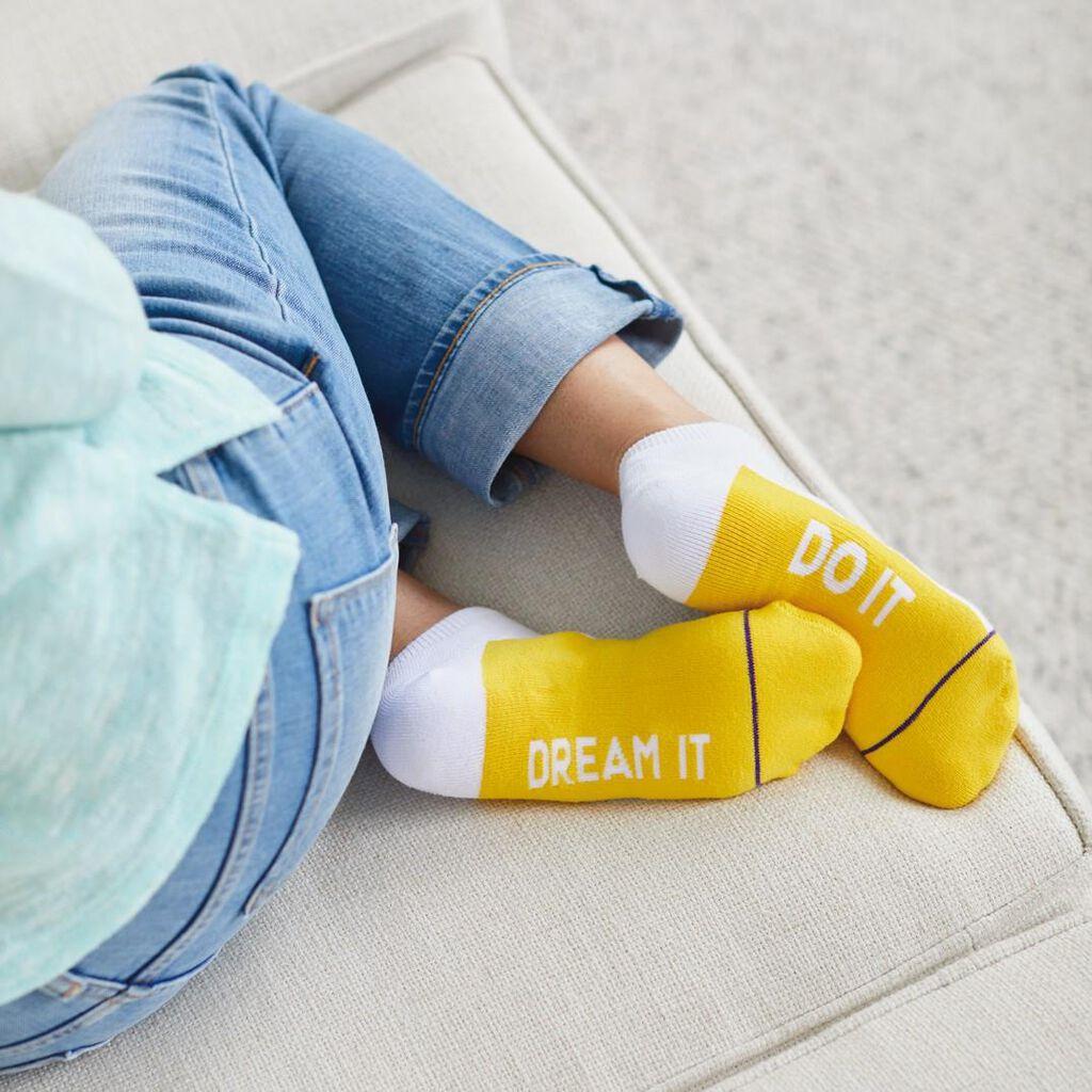 fac8dc687 Dream It, Do It Toe of a Kind Novelty Socks - Socks & Shoes - Hallmark