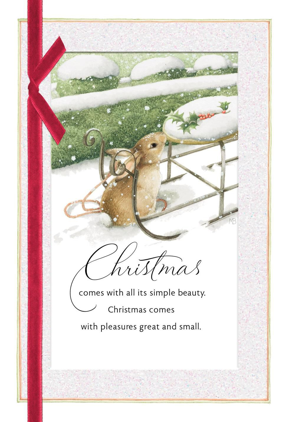 Marjolein bastin snowy bunny christmas card greeting cards hallmark m4hsunfo