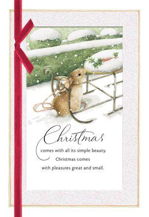 Marjolein Bastin Snowy Bunny Christmas Card