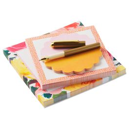 Rose Memo Pad Set With Pen, Set of 3, , large