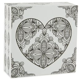 Heart 4x4 Coloring Plaque, , large