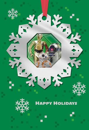 Star Wars™ Droids Christmas Card With Ornament