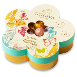 Godiva Assorted Dessert Truffles in Flower Gift Box, 32 Pieces, , large