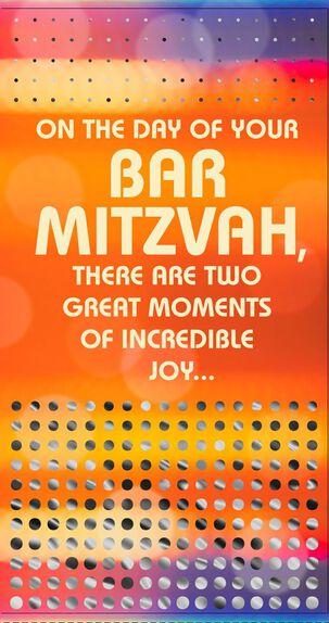 Great Moments Bar Mitzvah Congratulations Money Holder Card